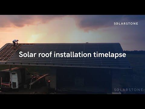 Solarstone Energy 10kW Solar Panel Installation in timelapse