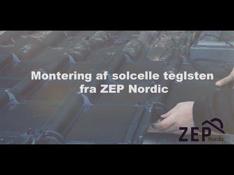 Montering af solcelle teglsten fra ZEP Nordic